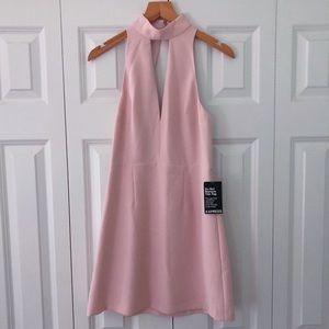 NEW EXPRESS pale pink halter top dress size 2
